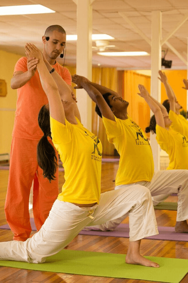 People in a Sivananda yoga class