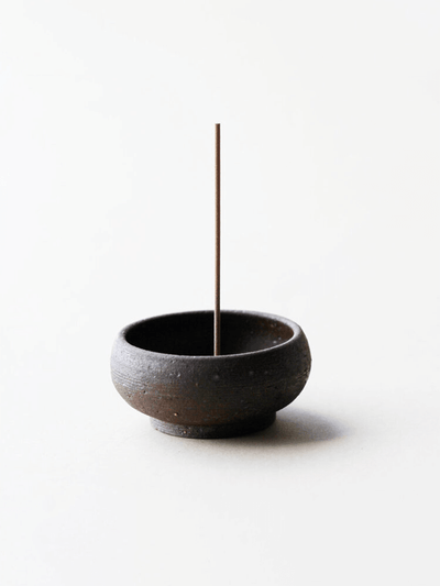 Wabi Sabi Mud Clay Incense Bowl - UME - £34.00