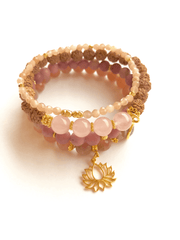 Golden Lotus Bracelet Stack