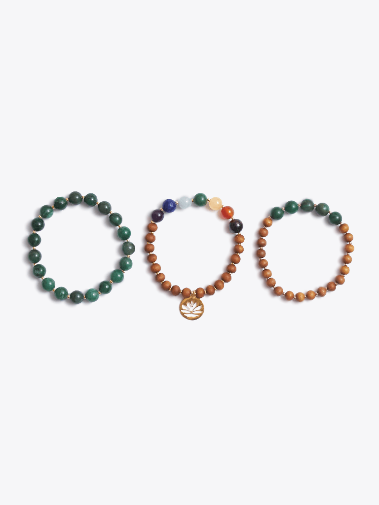 Love & Harmony Chakra Bracelet Stack & Essential Oils Gift Box