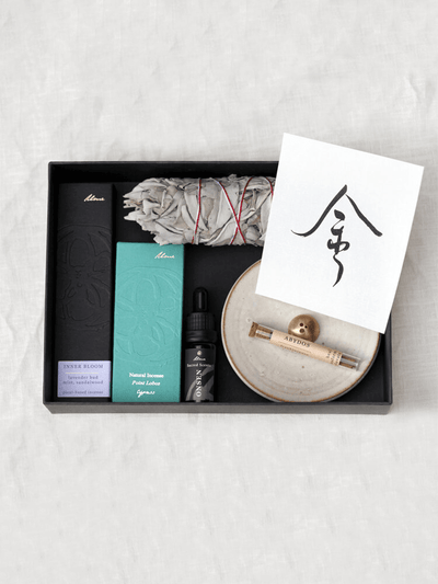 Metal Element Incense, Sacred Scents, Sage, Calligraphy Print, Gift Set