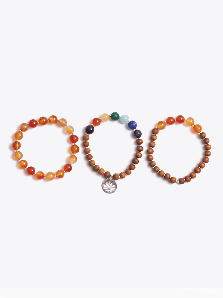 Creativity & Passion Chakra Bracelet Stack & Essential Oils Gift Box