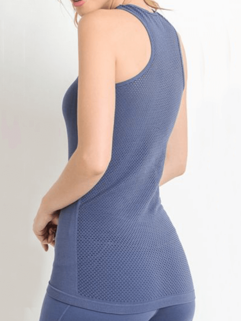 Tidal Mesh Tank Top Hamptons Blue