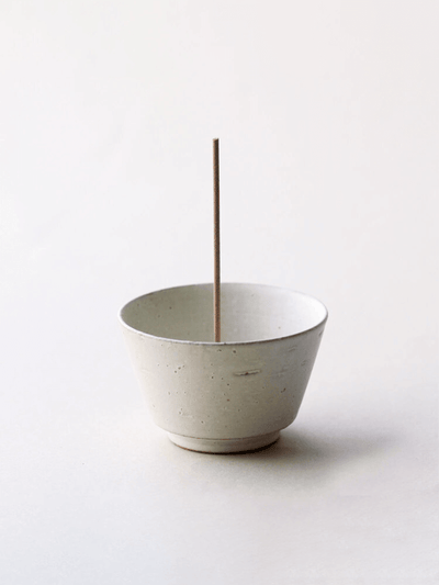 Matt White Agate Incense Bowl