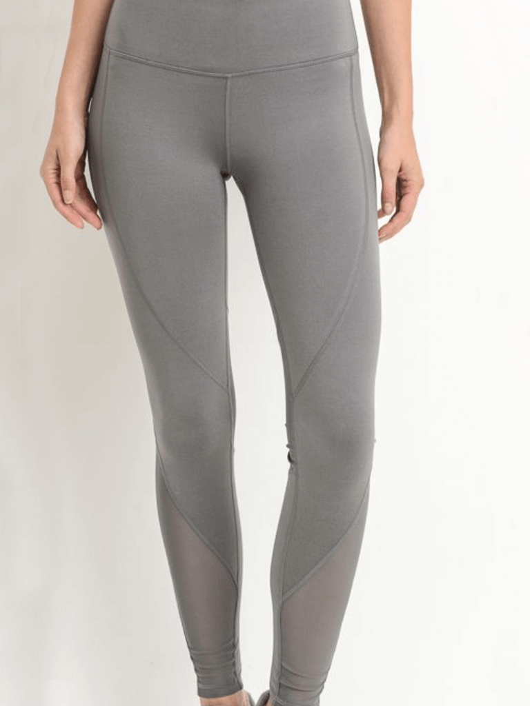 The Strand Mesh Leggings Mineral Grey