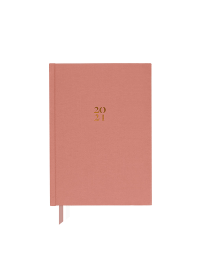 Dated Weekly Eco Planner - Sunday Start, Pink, Blue, Green, Marigold - Ponderlily - £18.00
