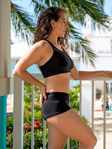 Baja Yoga Shorts - Panther Black - SoloSol Movement - £38.66