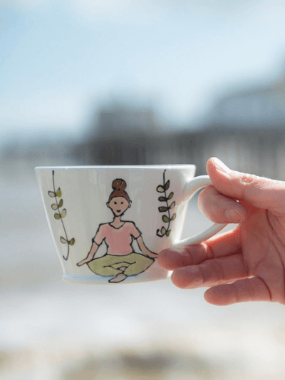 Namaste Mug - Conical - Perfect Yoga Gift - YogaClicks - £34.95