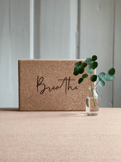 Breathe Eco Cork Yoga Block - YogaClicks - £17.95