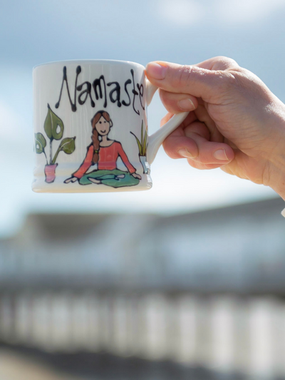 Namaste Mug - Regular - Perfect Yoga Gift - YogaClicks - £39.95