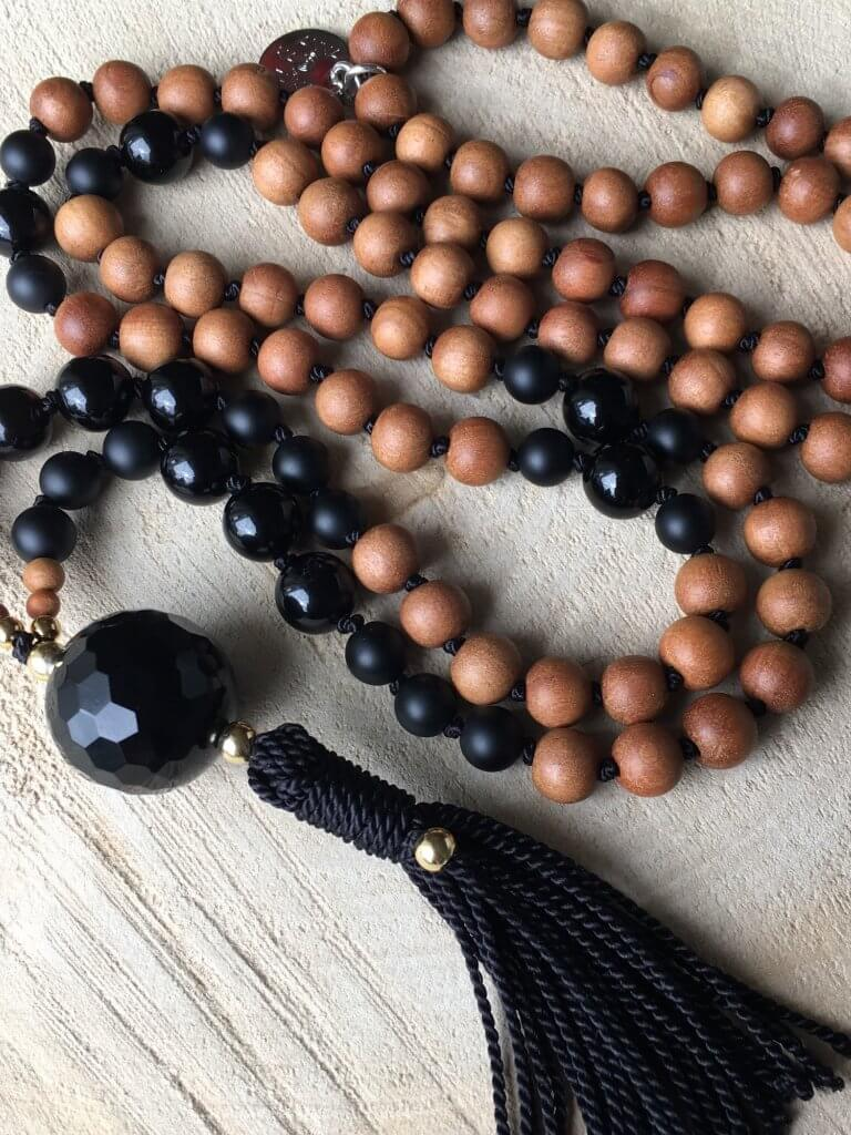 Superpower Sandalwood Mala Necklace - AnnakaTaika - £92.24
