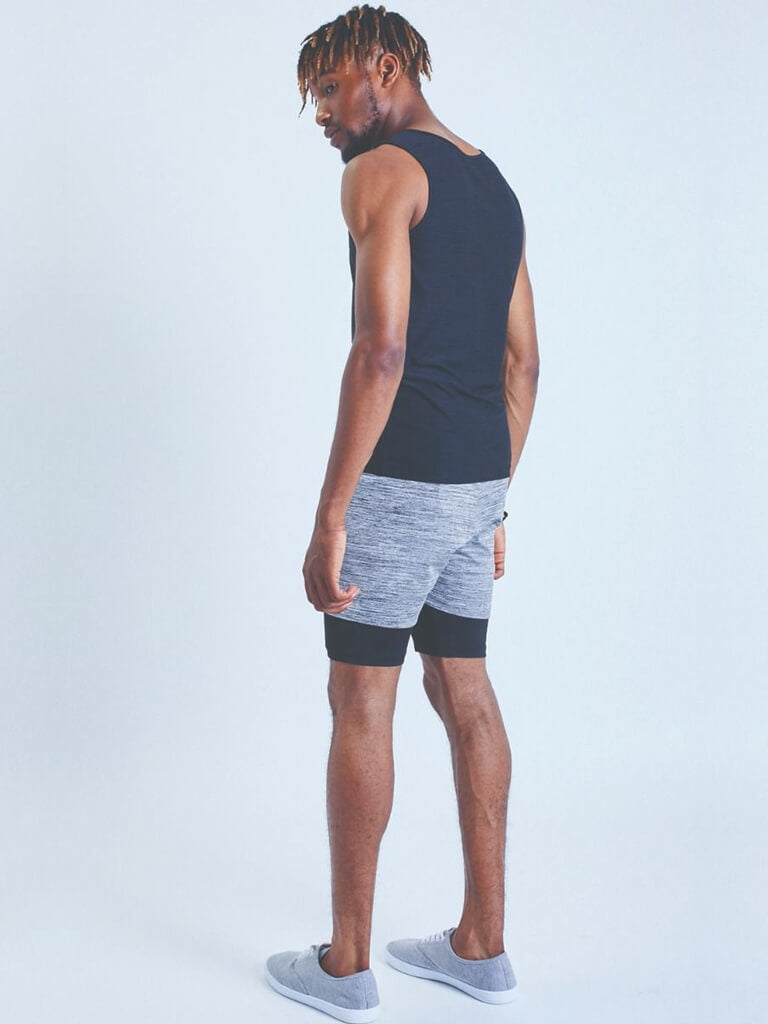 2-Dogs Lined Yoga Shorts for Men - Grey - OHMME - £45.00