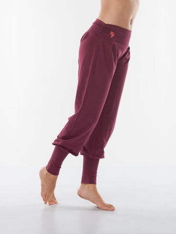 Dakini Organic Yoga Pants - Deep Cherry - Urban Goddess - £64.95