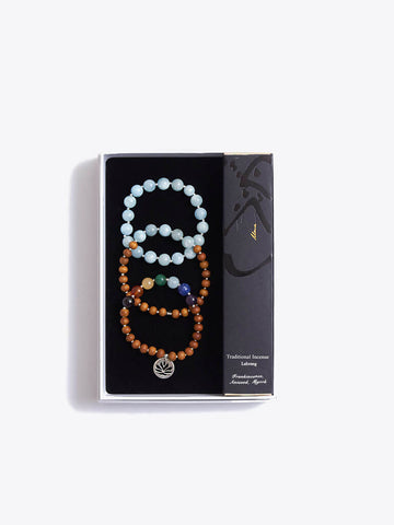 Chakra Bracelet Stack & Oriental Incense Sticks Gift Box