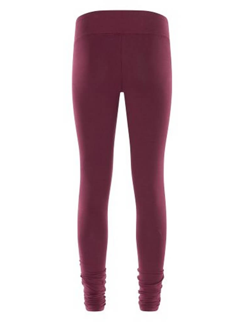 Bhaktified Organic Yoga Leggings - Deep Cherry - Urban Goddess - £64.95