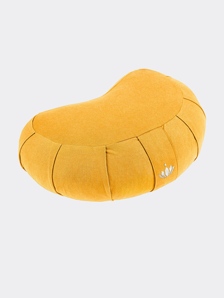 Crescent-Zafu Meditation Cushion SIDDHA - Saffron