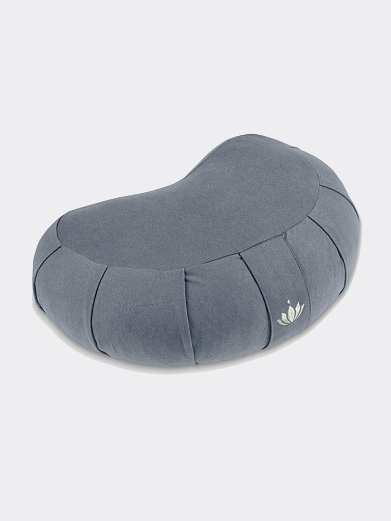 Crescent-Zafu Meditation Cushion SIDDHA - Cornflower