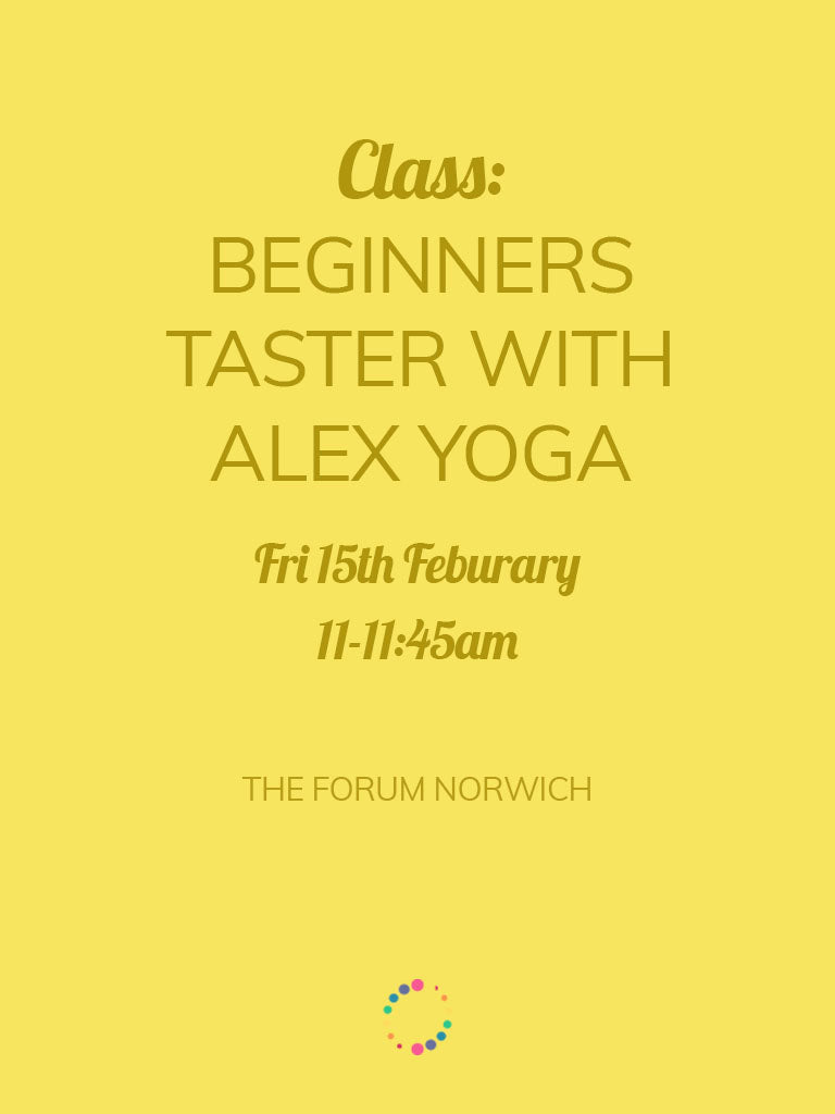 Beginners' Taster Yoga Class with Alex Yoga (Friday 15th)