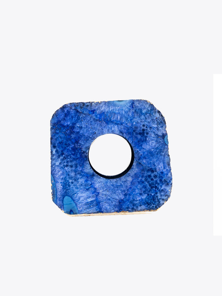 Blue Agate Tea Light Holder - Kleem - £30.00