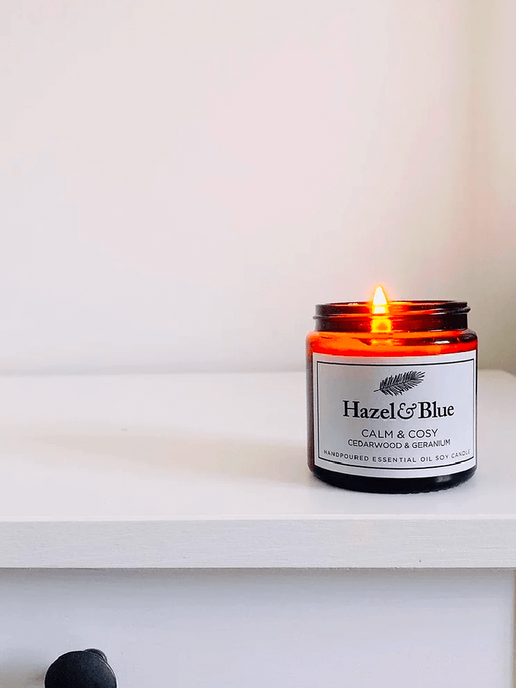 Calm & Cosy Essential Oil Soy Candle