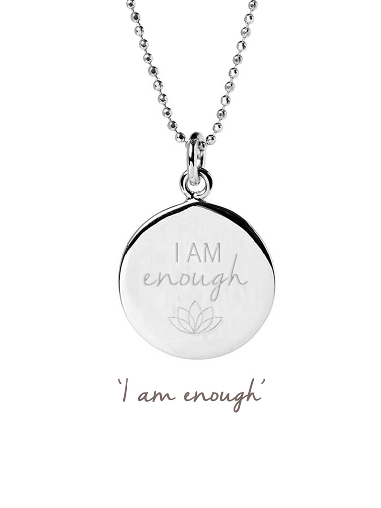 I Am Enough Necklace - Sterling Silver
