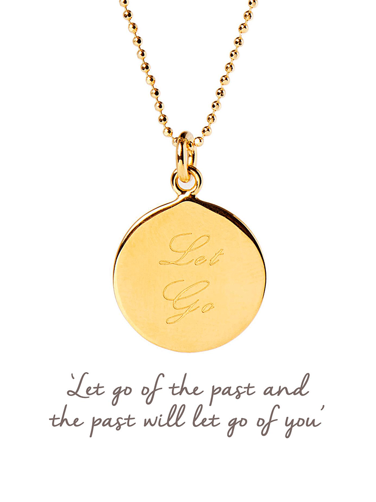 Let Go Pendant - Yellow Gold - Mantra Jewellery - £65.00