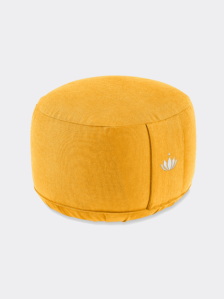 "Meditation Cushion ""Lotus"" LARGE (20 cm) - Saffron"