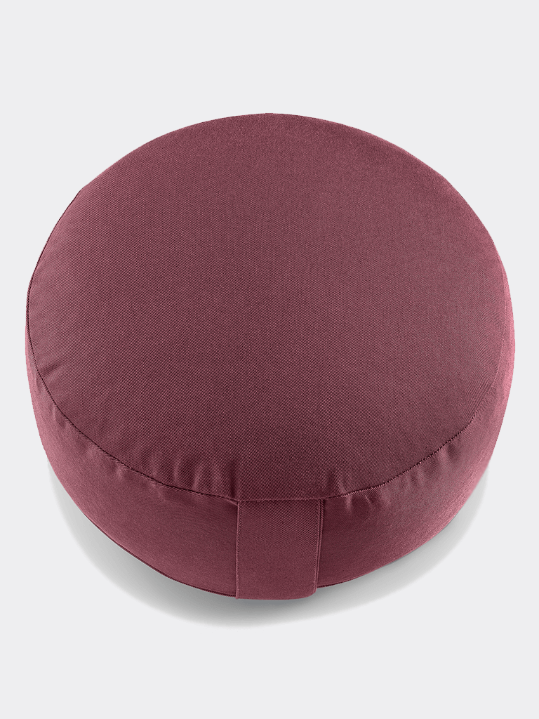 "Meditation Cushion ""Lotus"" NO EMBROIDERY (15 cm) - Aubergine"