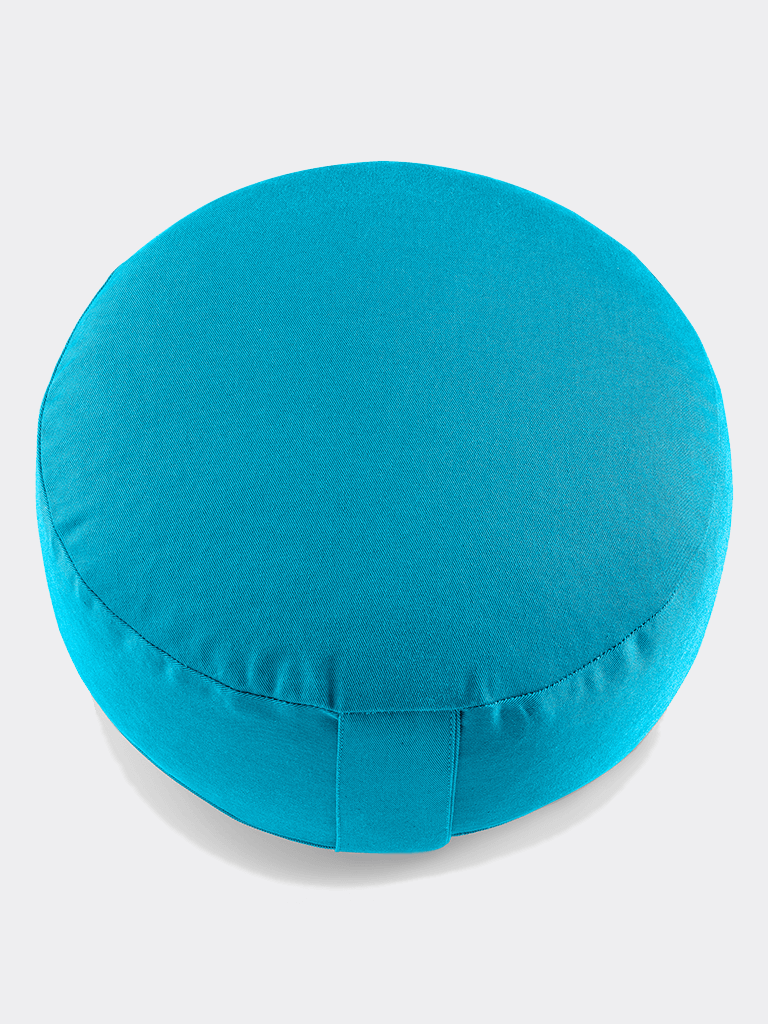 "Meditation Cushion ""Lotus"" NO EMBROIDERY (15 cm) - Petrol Blue"