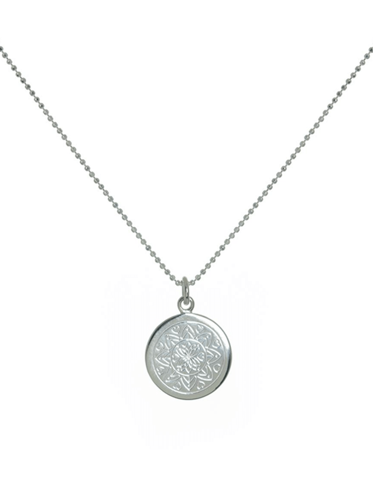 Love Mandala Necklace - Silver