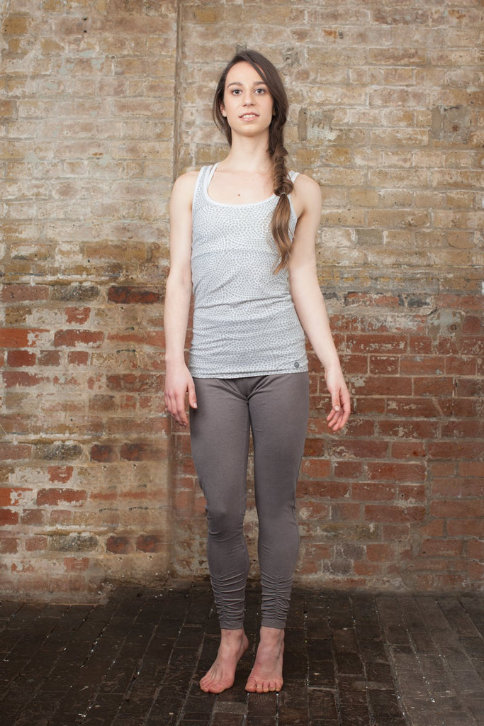 Ruched Bottom Leggings Charcoal