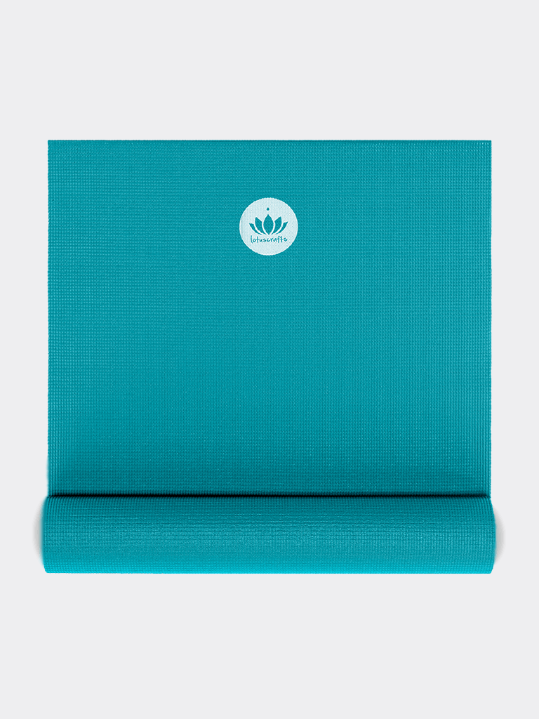 "Yoga Mat ""Mudra"" Studio Extra Long - Petrol Blue - Lotuscrafts - £27.95"