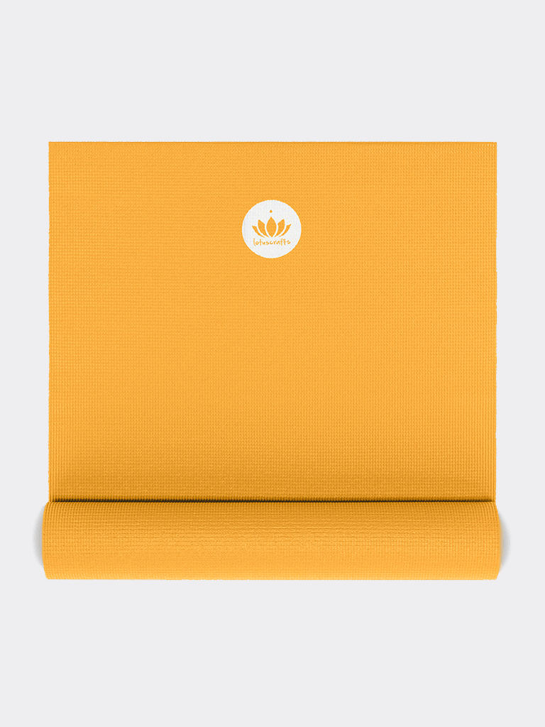 "Yoga Mat ""Mudra"" Studio - Saffron Yellow - Lotuscrafts - £25.95"