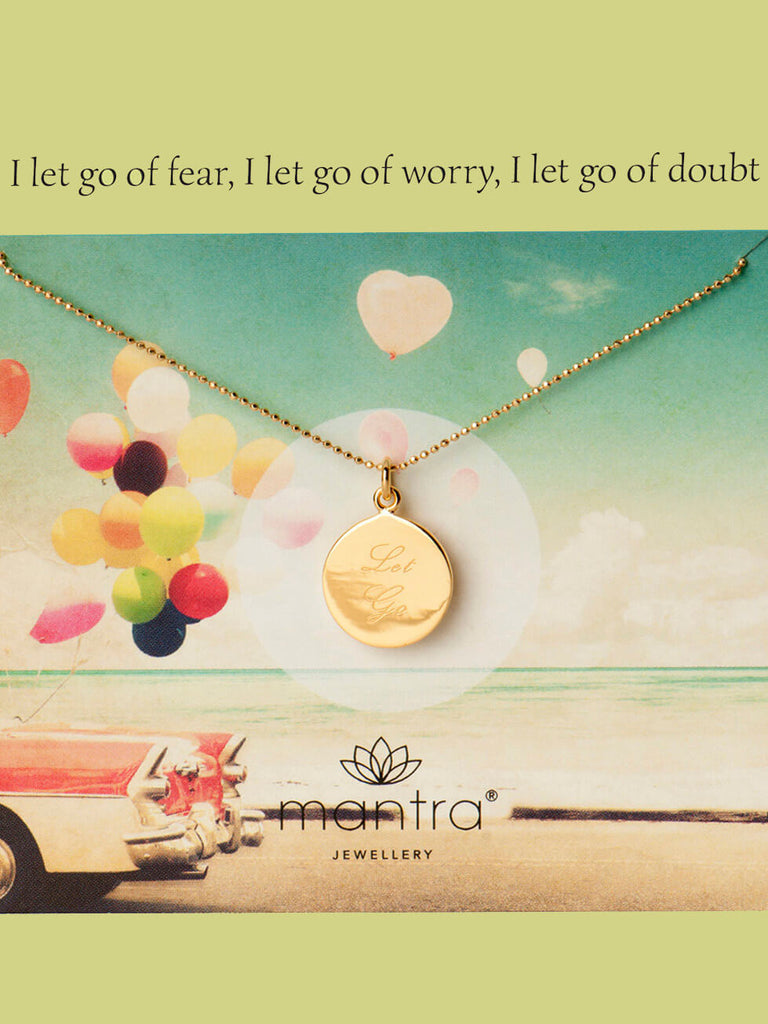 Let Go Pendant - Yellow Gold