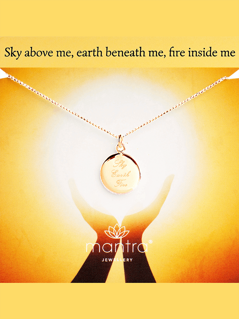 Sky, Earth, Fire Pendant - Gold