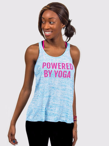 PBY Ocean of Love Flowy Racerback Yoga Tank - Made By Yogis - £15.00