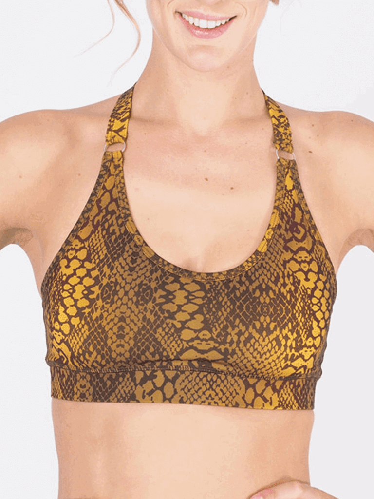 Siwa Yoga Bra Top - Olive Multi Coloured
