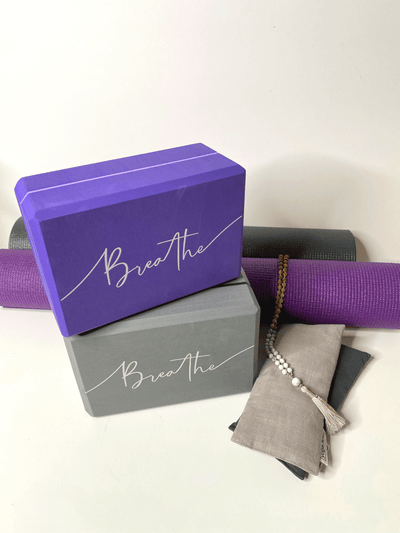 Breathe Foam Yoga Brick - YogaClicks - £13.95