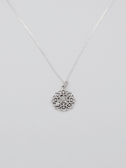 Mandala of Life Necklace - Recycled Sterling Silver with Moon Stone - Free Spirit - £45.00