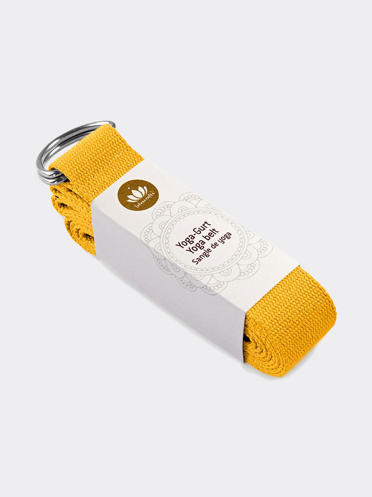 Yoga Belt - Saffron Yellow