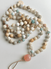 AnnakaTaika Mala necklaces Blue Loving Communication Aroma Mala