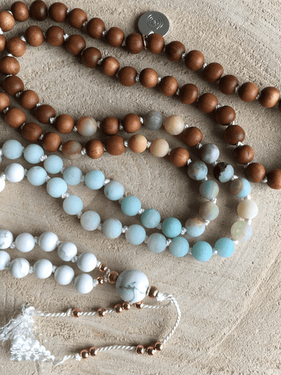 AnnakaTaika Mala necklaces One Size / Blue Calm and Patience Mala Necklace