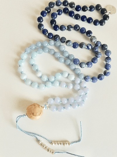 AnnakaTaika Mala necklaces One Size / Blue Inner Guidance Mala Necklace