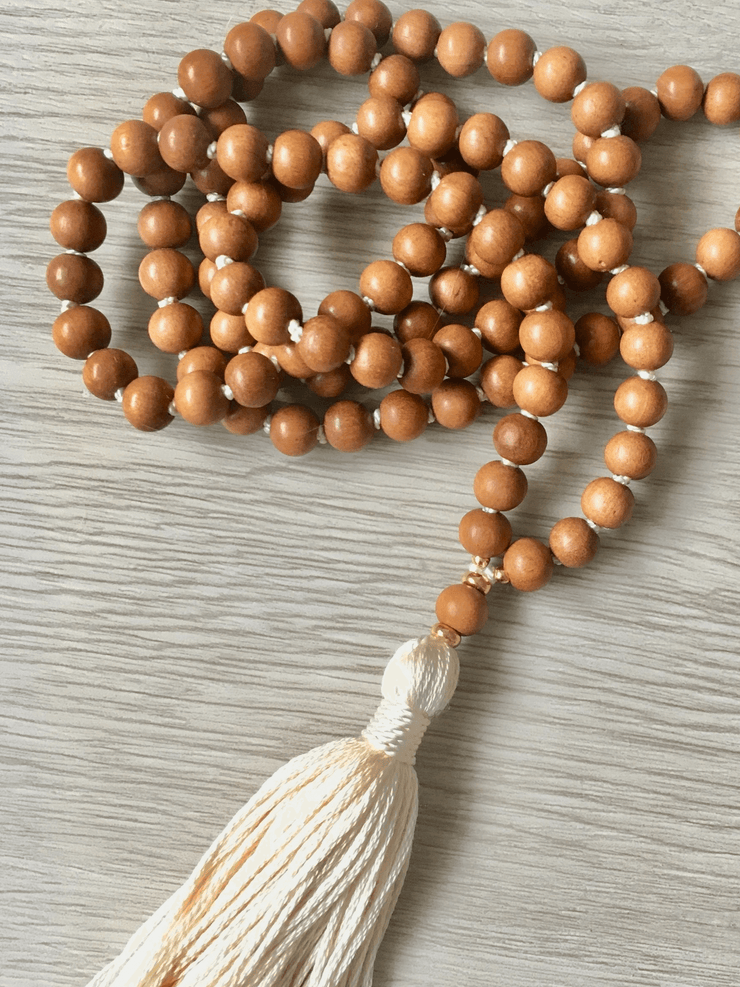 Simple Sandalwood Mala Necklace - AnnakaTaika - £108.00