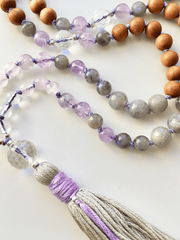 AnnakaTaika Mala necklaces One Size / Purple Protection and Guidance Mala Necklace