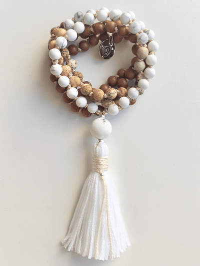 AnnakaTaika Mala necklaces White Peace and Harmony Mala