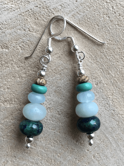 AnnakaTaika Spiritual earrings One Size / Blue No Worries Gemstone Silver Earrings