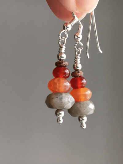 Energising Gemstone Silver Earrings - AnnakaTaika - £45.00
