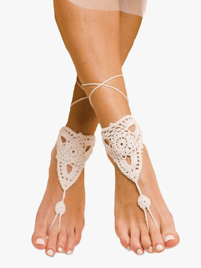 Bare Sandals Foot jewellery Pearla Barefoot Sandals Foot Jewellery