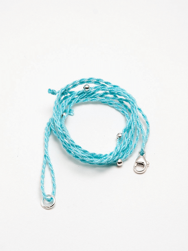 Pendant Cord - Turquoise/Silver